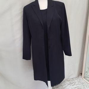 Pret-A-Porter charcoal dress coat 2-pc suit sz 10